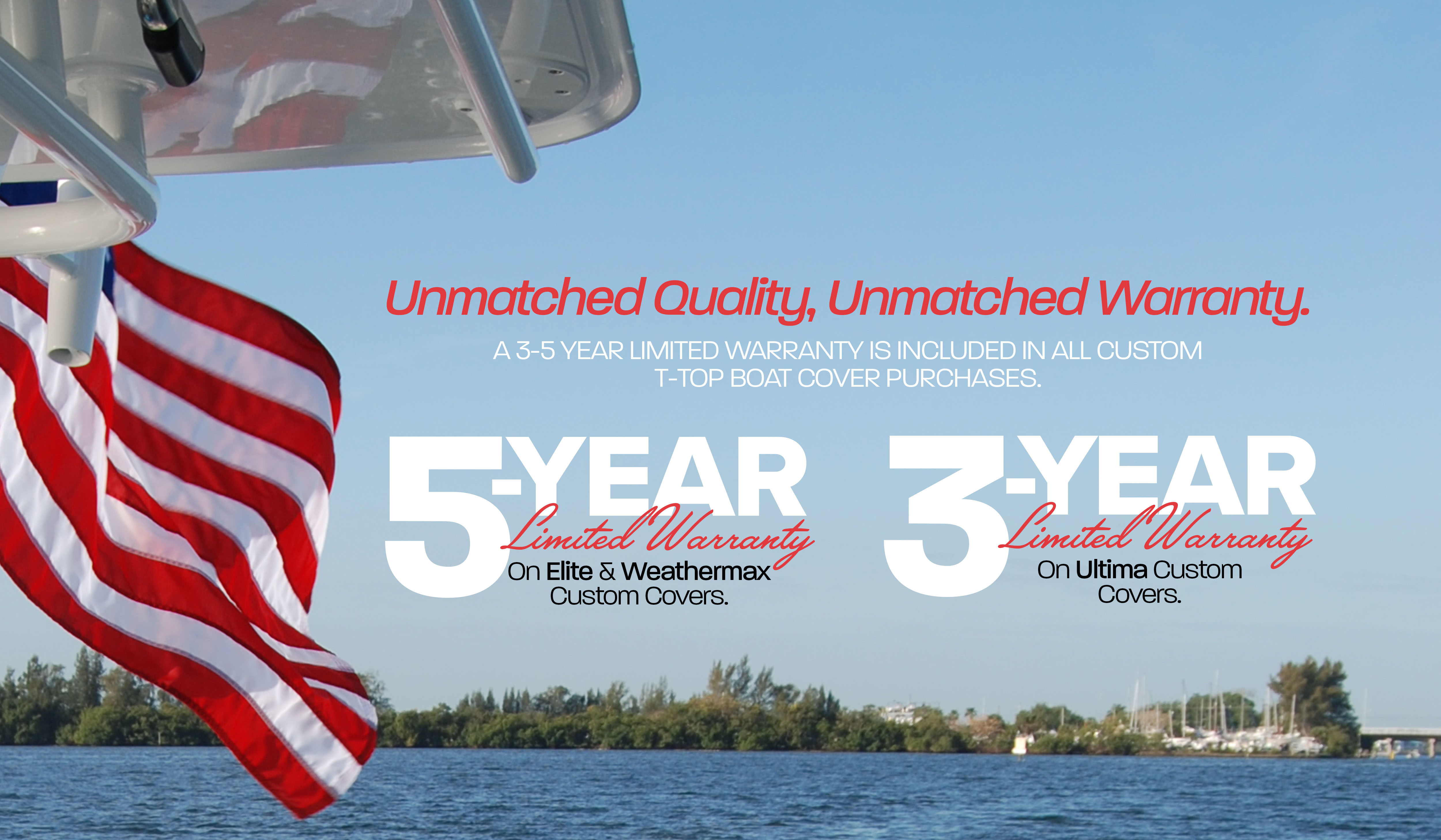 Warranties on Taylor Made Custom T-Top Boat Covers