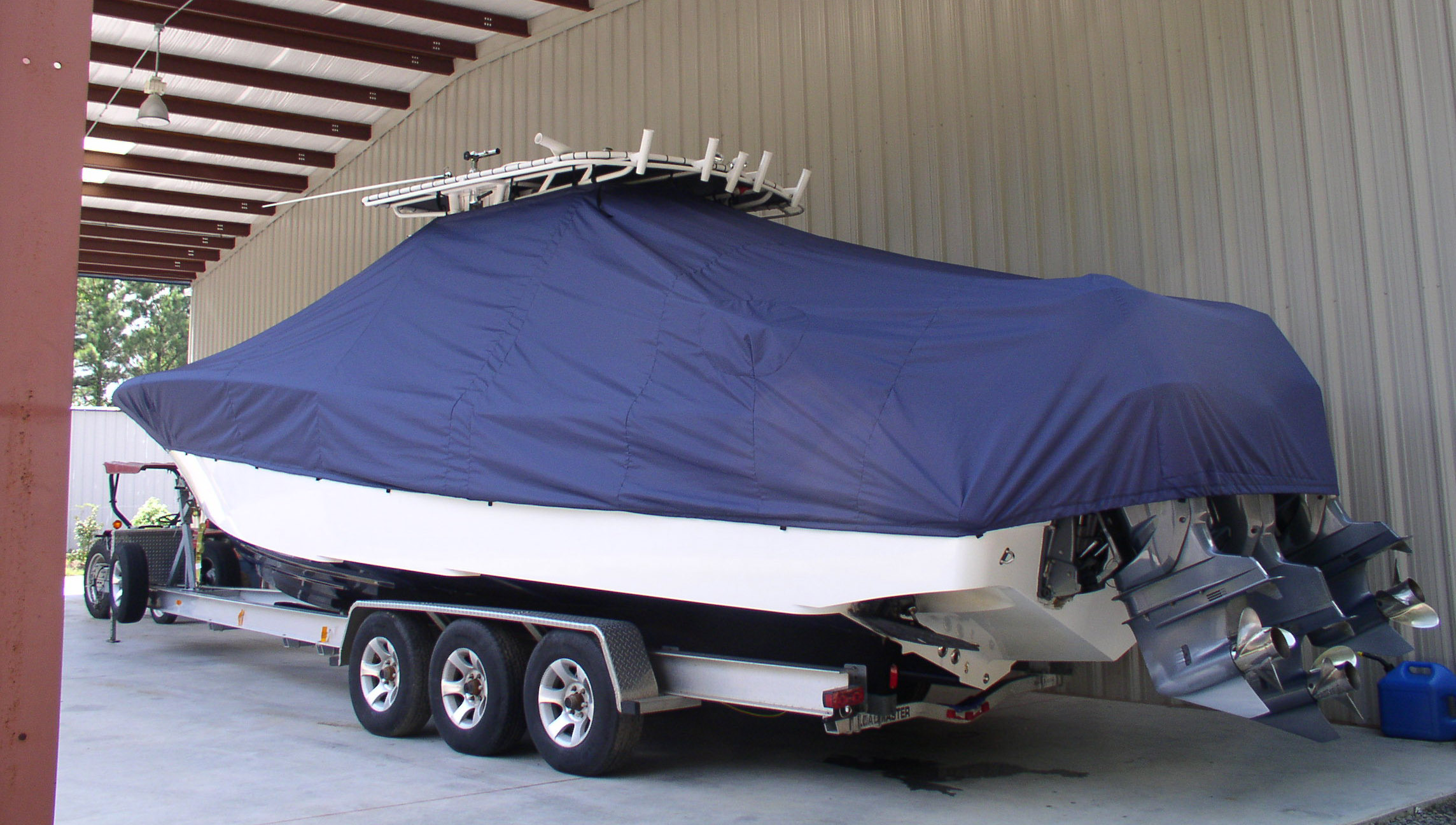securely-fastened-t-top-boat-cover