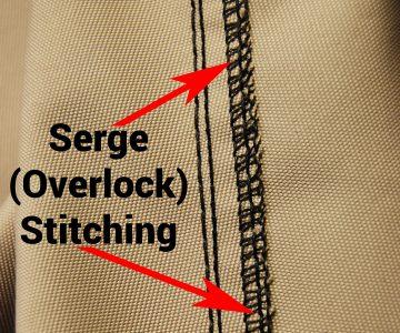 Serge stitching